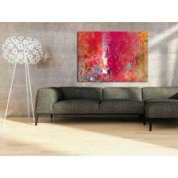 Duży czerwony obraz na ścianę Antyki i Sztuka