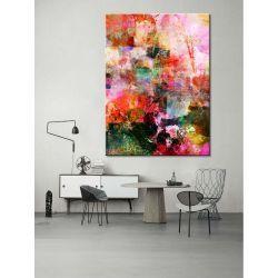 """Nowoczesny obraz abstrakcyjny """"przenikające barwy"""" Antyki i Sztuka"""