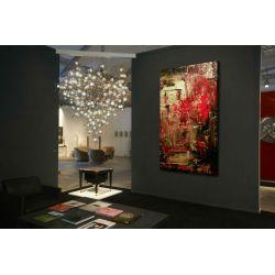 """Obrazy abstrakcyjne - """"przeplatanka złoto czerowna"""" Akryl"""
