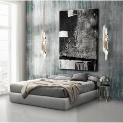 Obrazy nowoczesne - strukturalna abstrakcja - srebrne kontrasty Malarstwo