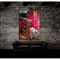Abstrakcyjna mozaika - unikat autorstwa Sylwii Zakrockiej Akryl