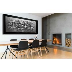 Srebrne faktury - duży nowoczesny abstrakcyjny obraz nie tylko do salonu Akryl