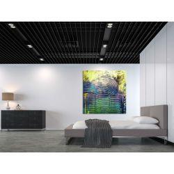 Barwa zaklęta w fakturach - bardzo duży obraz nowoczesny Akryl