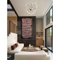 metaliczne fale - duży obraz abstrakcyjny do salonu Akryl