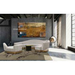 metafizyczna abstrakcja - modny obraz do loftu lub awangardowego salonu Akryl