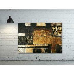 Obraz abstrakcyjny ręcznie malowany - metaliczne inspiracje Akryl