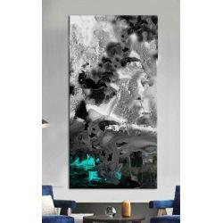 Stylowy obraz do salonu - blue puring effect Antyki i Sztuka