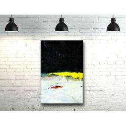 Żółty akcent - efektowny duży obraz nowoczesny 100x150cm Antyki i Sztuka