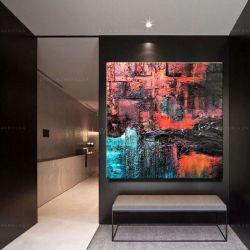 Kolorowa abstrakcja- efektowny duży obraz nowoczesny Rękodzieło