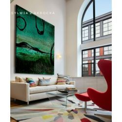 Tajemnicza zieleń obrazy do salonu nowoczesnego Antyki i Sztuka