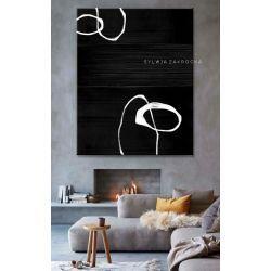 Artystyczna czern obrazy do salonu nowoczesnego Antyki i Sztuka
