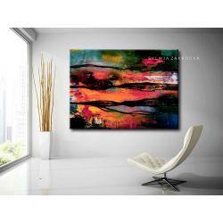 Kolorowa awangarda obrazy do salonu nowoczesnego Antyki i Sztuka