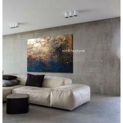 Industrialna abstrakcja - abstrakcyjne obrazy do modnego salonu Malarstwo