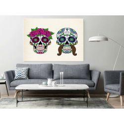 Obraz z motywem maski sugar skull