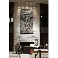 Srebrne rzeźbienia - obraz na płótnie Malarstwo