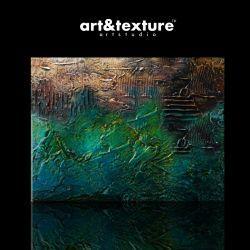 Szmaragdowe barwy - obraz na płótnie Akryl