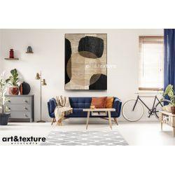 MISTIC STONES - Wielkoformatowy obraz na płótnie abstrakcyjny art&texture™ Akryl