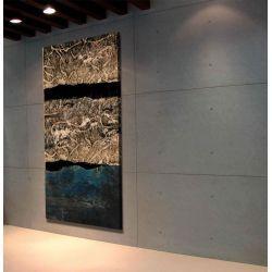 Abstrakcyjne warstwy - OBRAZ MIESIĄCA - jedna sztuka w tej cenie Antyki i Sztuka