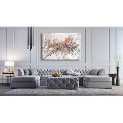 VELVET WHITE - Wielkoformatowy obraz na płótnie abstrakcyjny art&texture™