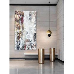 STONE INSPIRATION - Wielkoformatowy obraz na płótnie abstrakcyjny art&texture™ Antyki i Sztuka