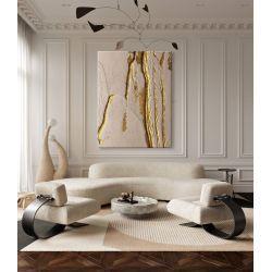 POWDER PINK - Wielkoformatowy obraz na płótnie abstrakcyjny art&texture™ Antyki i Sztuka