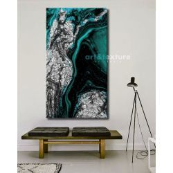 Szmaragd w srebrze - OBRAZ MIESIĄCA - jedna sztuka w tej cenie