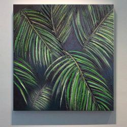 TROPICANA - obrazy z liśćmi tropikalnymi monstera dracena palma modny motyw Antyki i Sztuka