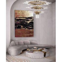 COPPER TREASURE - nowoczesny obraz do salonu z metaliczną strukturą