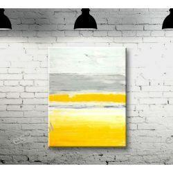 Obraz ręcznie malowany na płótnie MGLISTY PORANEK 70x100cm Obrazki i obrazy