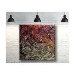 Obrazy do salonu metaliczne faktury z kolorem 80x80cm Antyki i Sztuka