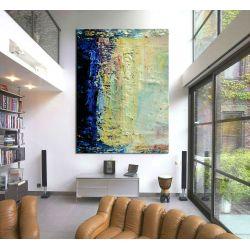 Błękitne fantazje - Duże obrazy do salonu  Antyki i Sztuka
