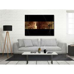 Brązowa elegancja - Obrazy nowoczesne do salonu Akryl