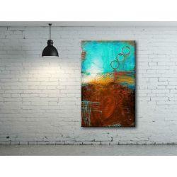 duża abstrakcja - obraz na płótnie Akryl