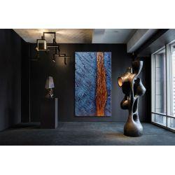 """Abstrakcyjne obrazy do salonu w stylu nowojorskim - """"rzeźbione sny"""" Akryl"""