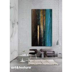 Obrazy abstrakcyjne do salonu Akryl
