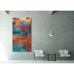 """""""szmaragdowe szaleństwo"""" - nowoczesny obraz abstrakcyjny"""