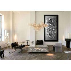 Srebrne faktury - nowoczesny obraz abstrakcyjny na ścianę Akryl