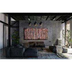 metaliczne fale - abstrakcyjny obraz na ścianę Akryl