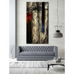 kontrastowa abstrakcja - nowoczesny obraz na ścianę Akryl