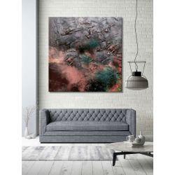 stylowa abstrakcja - duży modny obraz do salonu w nowoczesnym stylu Obrazki i obrazy