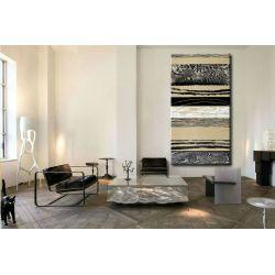 Etniczna inspiracja - Modny obraz na ścianę 80x170cm / obrazy do salonu Obrazki i obrazy