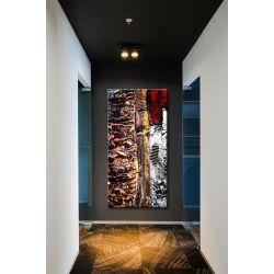 strukturalny collage - Modny obraz na ścianę 90x190cm | obrazy do salonu Obrazki i obrazy