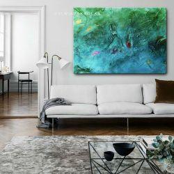 morskie fantazje - nowoczesny obraz wielkoformatowy | obrazy do salonu Obrazki i obrazy