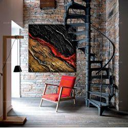 Obrazy nowoczesne - czerwony akcent Akryl