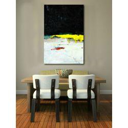 Obrazy nowoczesne - żółty akcent Obrazki i obrazy