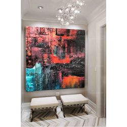 Obrazy nowoczesne - kolorowa abstrakcja Akryl
