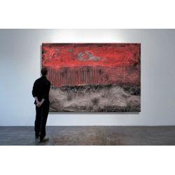 Czerwona eksplozja - Modny obraz na ścianę | obrazy do salonu Antyki i Sztuka