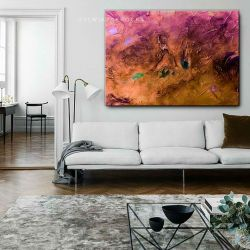 Stylowe obrazy do salonu - pastelowy zachod Akryl