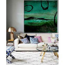Tajemnicza zielen obrazy do salonu nowoczesnego Antyki i Sztuka