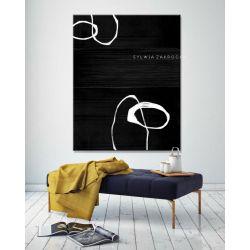 Artystyczna czern obrazy do salonu nowoczesnego